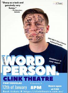 Peter James Word Person @ the Clink Theatre @ The Clink Theatre | Port Douglas | Queensland | Australia