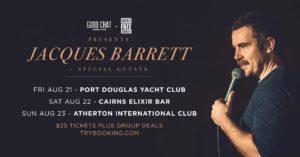 Good Chat Comedy presents Jacques Barrett @ the Port Douglas Yacht Club @ Port Douglas Yacht Club   Port Douglas   Queensland   Australia