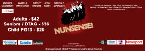 Nunsense @ the Clink Theatre @ The Clink Theatre | Port Douglas | Queensland | Australia