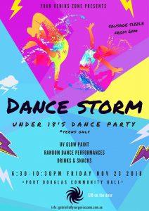 Dance Storm - Under 18's dance party teens only @ Port Douglas Community Hall   Port Douglas   Queensland   Australia
