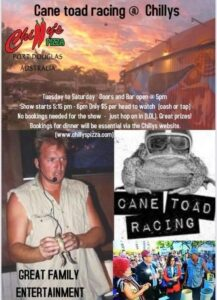 Cane Toad Racing at Chilly's @ Chilly's | Port Douglas | Queensland | Australia