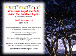 Christmas Night Markets under the Raintrees @ St Davids Anglican Church Mossman | Mossman | Queensland | Australia